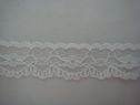 1Y White Double Scalloped Floral Lace Trim 7/8 W L2-7