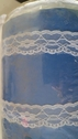 White Double Scalloped Floral Lace Trim 7/8 W L 2-7