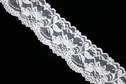 White Double Scalloped Floral Stretch Lace Trim 2 1/4 W S2-4