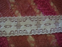 White Floral Crochet Lace Trim 1 7/8 W
