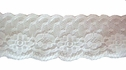 White Floral Double Scalloped Lace Trim 1 3/8 W L6-1