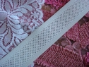 White Mesh Elastic Ribbon Trim 1 1/4 inch