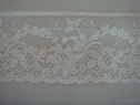 1Y White Poly Cotton Floral Scalloped Lace Trim 2 1/4 W