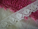 White Scalloped Cotton Crochet 3/4 W