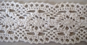 White Scalloped Thin Crochet Trim 1 3/8 W