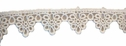 1y white Venice triangle floral lace trim 1 inch wide