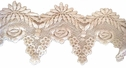 1y white Venise Venice Floral Double Scalloped Lace Trim  4  wide