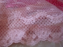 1Y Wide Baby-Pink Scallop Lace 6 1/4 W