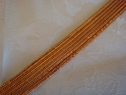 1yard metallic copper ribbon trim 3/8 inch wide