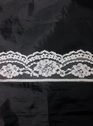 1 yard white poly lace trim 1 3/4 in L8-1a