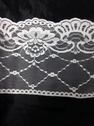 white  or black floral poly lace trim 6 1/4 in L6-5