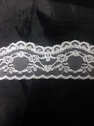yard white poly lace trim 1 3/4 in L10-4