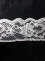 white or  black poly floral scalloped  lace trim 2 3/4  L10-6