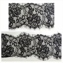 3 yards black eyelash  lace scalloped