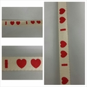 2 yards ivory 2 heart design flat cord trim 1/2 inches wide.