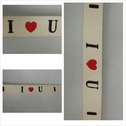 2 yards ivory I heart U flat cord trim 1/2 inches wide.
