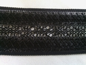 Black crochet clunny trim 1 1/2 inches