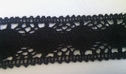 Black scalloped crochet clunny trim 1 1/2 inch
