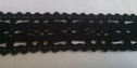 1 yard of black scalloped  crochet clunny trim 1 inch