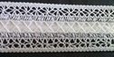 Pure white crochet clunny insert satin ribbon trim 1 inch