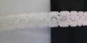 Off white stretch lace trim. 1/2 inches wide. S4-4