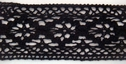 2Y Black Cotton Crochet Lace Trim 2 1/2 W