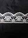 white or  black poly lace trim 1 1/2 in L9-1a