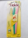 3 Piece Set Tinkle Eyebrow Razor Stainless Steel Safety Cover Yellow Green Pink