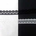 Poly Lace Black White trim Floral narrow edge 1/2 inch Wide L1-6