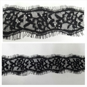1 yards black double scalloped eyelash trim 2 inches wide.