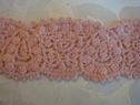 1 Y Dusty Rose Cotton Lace Venice Venise trim 1 5/16 W