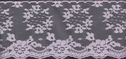 1Y Lilac Floral Scalloped Lace Trim 3 15/16 W