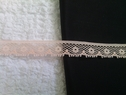 Light peach scalloped lace trim. 7/16 inches wide. L7-2