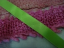 50 Yard Roll Apple Green Satin Double Faced Ribbon 7/8 inch