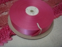 50 Yard roll pink satin ribbon 1 inch wide
