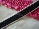 1 Y Black and White Mesh Stretch stripe Ribbon Trim 3/4