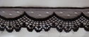 5Y Black Scalloped Lace Trim 1 1/2 W L2-3