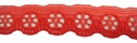 Delicate Red Scalloped Poly Lace Trim 11/16 W