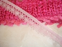 5Y Light Pink Cotton Lace Trim 1/2 W