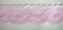 Mauve Double Scalloped Lace Trim 1 5/8 W L 3-5
