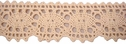 5Y Natural Cotton Crochet Lace Trim 1 1/4 W
