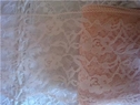 Peach lace floral trim 5