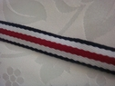 Striped woven ribbon trim