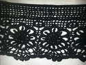 Black cotton scalloped Venice Venise lace trimscalloped 3 1/2 inch wide