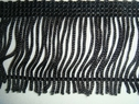 black fringe 2 inch long trim