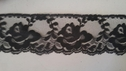 Black rose scalloped flower lace trim 2.5  L 7-5
