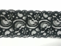 black stretch scalloped lace trim 2 5/8 inch wide
