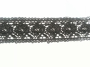 Black Venice delicate lace soft floral trim 1 7/8 inch wide
