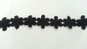 black Venice venise daisy flower lace trim 1 1/4