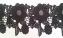 black Venice Venise Guipure floral scalloped lace trim3 3/4